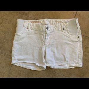 Gap Maternity White Jean Shorts Size 27R